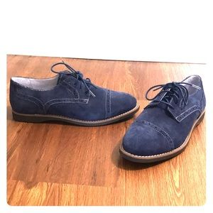 NWT Johnston & Murphy Blue Suede Oxford Shoes